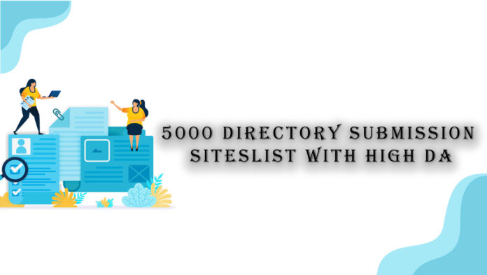 5000 directory submission sites list